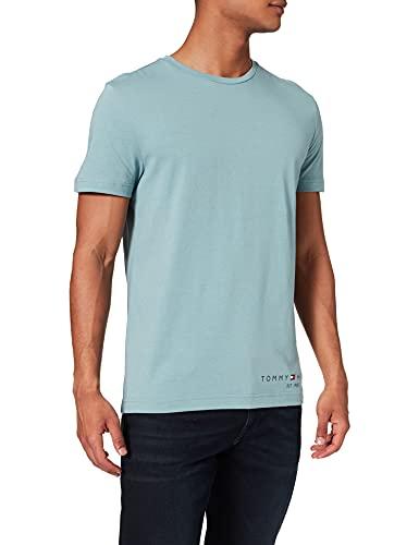 Tommy Hilfiger Hilfiger Logo tee Camiseta, Azul Lofty, S para Hombre