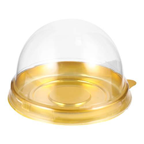 Hakka 100 stks duidelijk plastic doos transparante Dome Carrier Muffins Doos Verpakking Doos voor MiniGifts Macaron Cupcake Candy Cookies