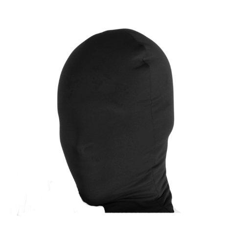 2nd Skin Full Hood Costume Face Mask Adult: Black