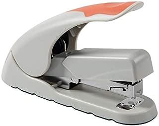 Twinlight Stapler Office Desktop Stapler Executive Paper Metal Stapler Super Low Force Effort One Finger Touch (Orange and Gray)