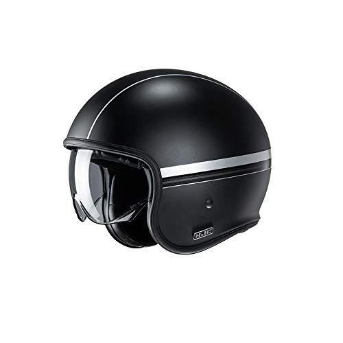 Motorradhelm HJC V30 EQUINOX MC5SF, Schwarz/Grau, L