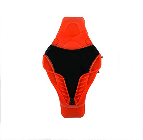 Kinderuhr Kunststoff Schlangenkopf LED Einzelne Mode Freizeit Sport Elektronische Uhr, Gules