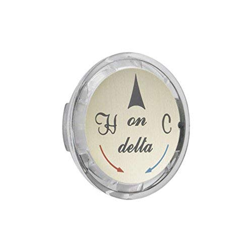 Delta Index Button Clear Acrylic Single Handle 1-3/8
