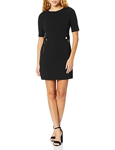 Calvin Klein Women's Crepe Shift Dress, Black, 10