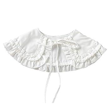 PRETYZOOM Women False Collar Casual Decorative Fake Shirt Collar Sweater Dress Collar Choker Blouse Collar Lolita Big Shawl False Collar for Women Girls