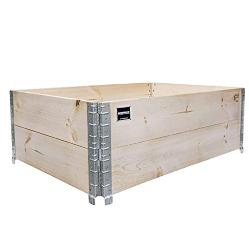 Schroth Home Hochbeet 120x80x40cm rechteckig - Palettenrahmen aus Holz - Hochbeet für Garten - faltbar