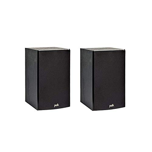 Polk Audio T15 100 Watt Home Theater Bookshelf Speakers (Pair) - Premium Sound at a Great Value | Dolby and DTS Surround | Wall-Mountable (Renewed) California