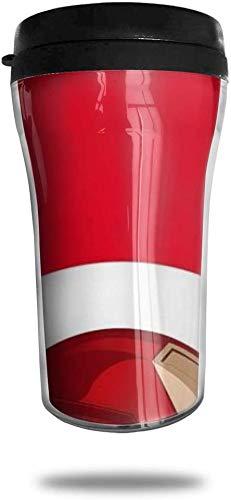 centimeter_ Kaffeebecher Ir-on_M-an doppelwandiger Vakuum-Reisebecher mit Deckel 8,5 oz