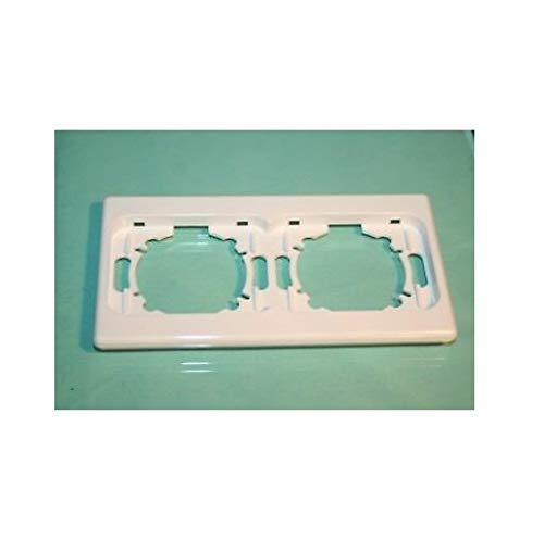 Legrand 088585 Radzierblende – doppelte Platte horizontal – Weiß – 2 Posten DIPLOMAT