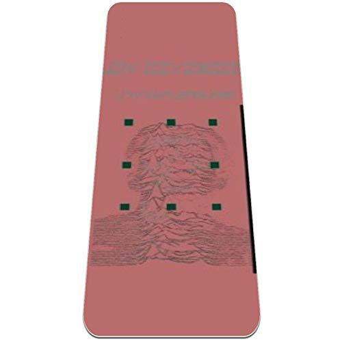 Eslifey - Esterilla de yoga para mujer y niñas, color negro con fondo rojo (183 x 61 cm, 1/4 pulgadas de grosor)