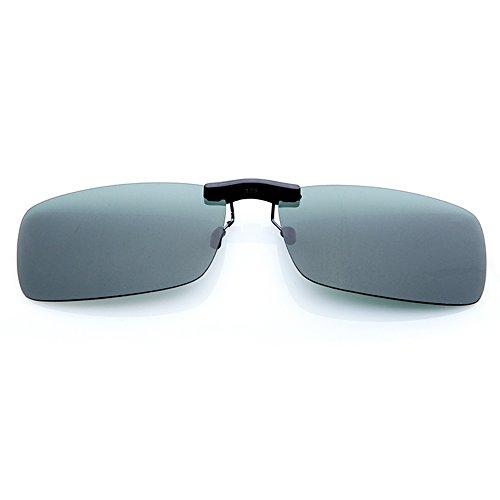 Nigoz Gafas de Sol Clips Polarizadas Gafas de Sol Clips al aire libre Accesorios Moda Unisex Verde Oscuro 1 Unids Calidad Superior y Creativo Buena Calidad