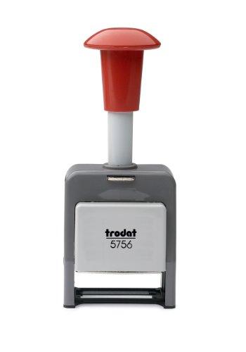 Trodat 86621 - Sello numerador automático autoentintable, plástico, 6 ajustes, dígitos de 5,5 mm