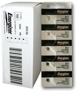 Energizer 317 100Ct Watch Batteries 1.55V Silver Oxide SR62