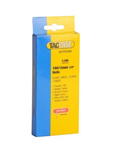 Tacwise TAC0359 Clavos de 180 x 15mm (caja de 2000 unidades), 180/15mm