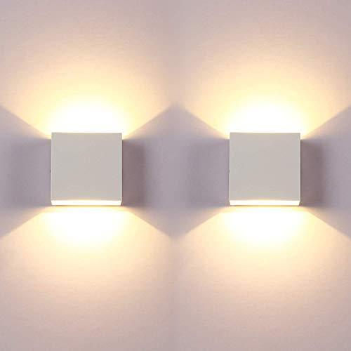 2 piezas 6W LED Wall Wash Lights Up Down Lámpara de pared...