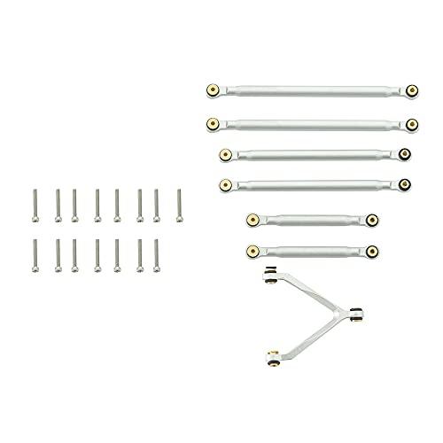 LIZHOUMIL Pieza de unión para barra de acoplamiento de 1/24 Axial Scx24 C10 Rc Auto Shell pieza de repuesto duradero eslabón de suspensión plateado
