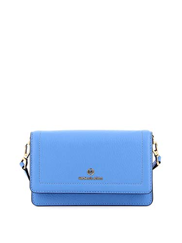 Composition: Cow Leather; Lining: Polyamide; Details: Metal W 7.09 x H 4.33 x D 1.18 inches; Shoulder Strap Drop: 19.69 inches; W 18 x H 11 x D 3 cm; Shoulder Strap Drop: 50 cm Made In CHN Light Blue Bags