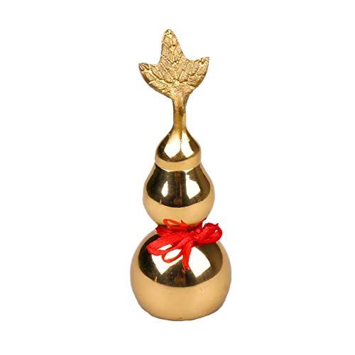 YIFEI2013-SHOP Estatua de Buda tradicional china de latón calabaza china buena suerte Hu Lu Cucurbit para riqueza Estatua de cobre pacífica Estatua colgante de agua de Buda decoraciones