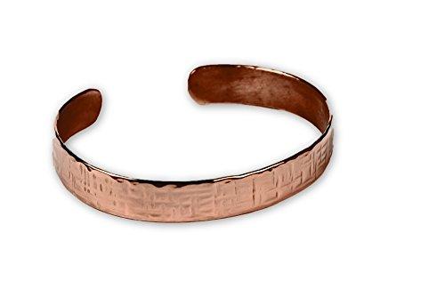 Kupferschmiede Schneider – Kupferarmreif hammerschlag gekreuzt – Echte Handarbeit – Größe 19 cm