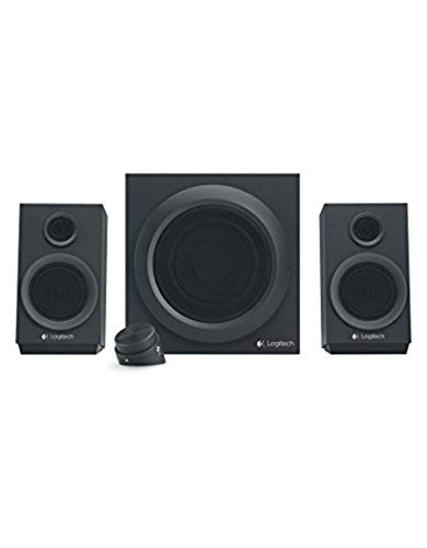 Logitech Z333 2.1 Sistema de Altavoces con Subwoofer, Sonido Impactante, 80 Vatios de Pico, Graves Potentes, Entradas de 3.5 mm/RCA, Enchufe EU, PC/PS4/Xbox/TV/Móvil/Tablet, Negro