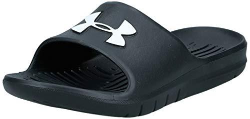 Under Armour CORE PTH Slide Sandal, Black (001)/Black, 10 M US