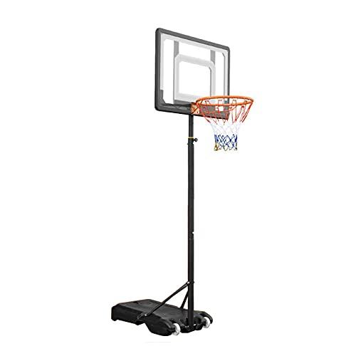 Canasta Baloncesto Aro De Baloncesto Portátil para Niños Y Adultos, Soporte De Entrenamiento De Baloncesto para Deportes Al Aire Libre, Ajuste De Altura 155-210cm, con 2 Rodillos