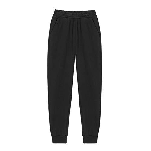 YIBANG-DIANZI Hoddie para Mujer Mujeres Unisex Pareja con Capucha, Invierno Casual Suelto Jumper más tamaño Señoras de otoño e Invierno Tops (Color : Pants 1 Black, Size : L)