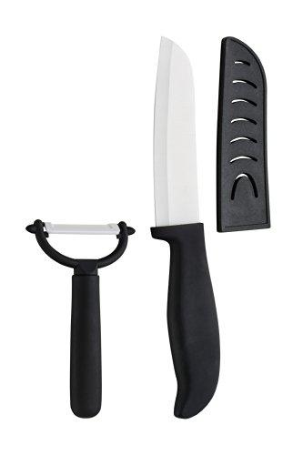 Premier Housewares 0907078 Set de Couteau et Éplucheur Céramique