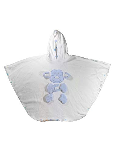 Poncho de bain pour bébés et enfants de 1 à 2 et 3 à 4 ans - Peignoir de bain super doux en coton - Poncho à capuche pour garçons et filles (singe, 3 à 4 ans)