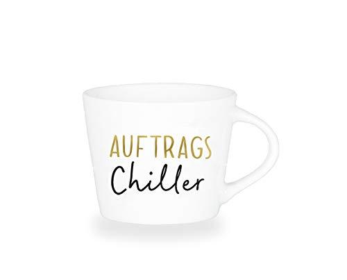 Grafik-Werkstatt Premium - Espresso -Tasse, Schreibkram Manufaktur, Goldveredlung, Auftrags-Chiller