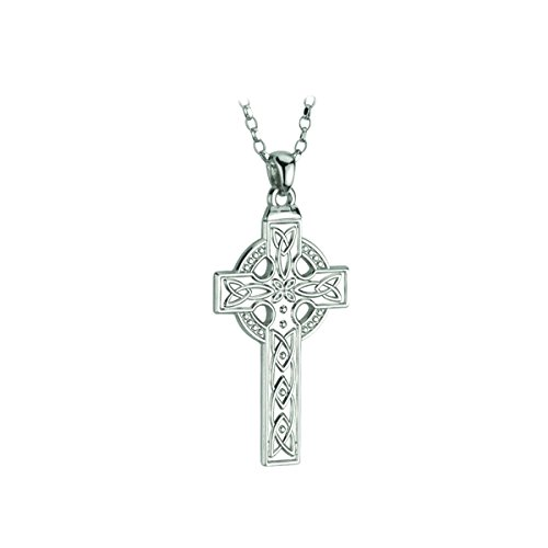 Cross Sterling Silver Necklace Mens 20 Inches Chain Irish Made