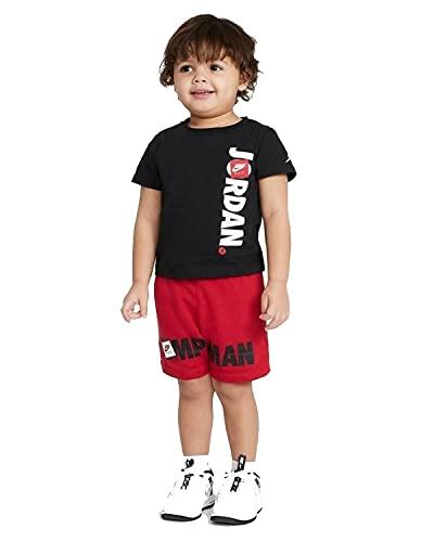 Nike Juego de Jumpman para niño, negro/rojo rojo 24 Meses