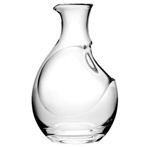 Carafe à Vin Creative Classic 400 ML - Verre En Cristal Sans Plomb 100% Soufflé à La Main, Bouteille de Whisky, Accessoires Pour Le Vin, Carafe à Vin Rouge, Cadeau Pour Le Vin, Pichet à Glace Pour Ham