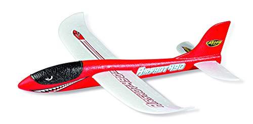 CARSON 500504013 - Wurfgleiter Airshot 490 rot, Wurfgleiter, 100 {e09127f1269c0df125bdbfebeb673c5cbbe1595cc84611c2b7243fce41e5e16a} flugfertig, Segelflugzeug zum Werfen, Fast unzerstörbar, Perfekte Flugeigenschaften,aus Styropor
