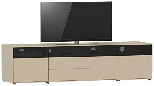 Jahnke Meuble TV TL 618.2, Bois, Blanc, 45 x 180 x 43,5 cm