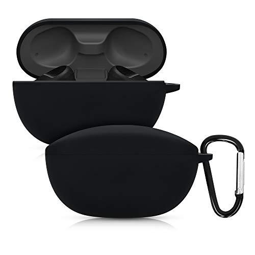 kwmobile Schutzhülle kompatibel mit Sony WF-SP800N - Hülle Kopfhörer - Silikon Case Cover Schwarz