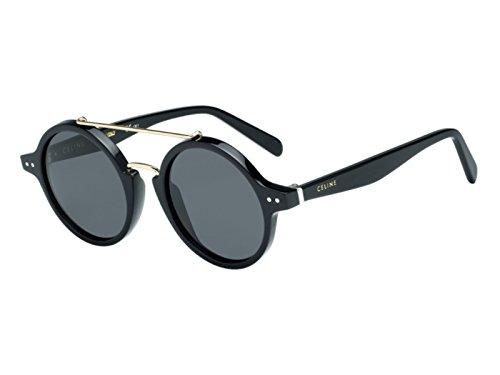Céline 807 47IR Gafas de sol, Black/Grey Blue, 47 para Mujer