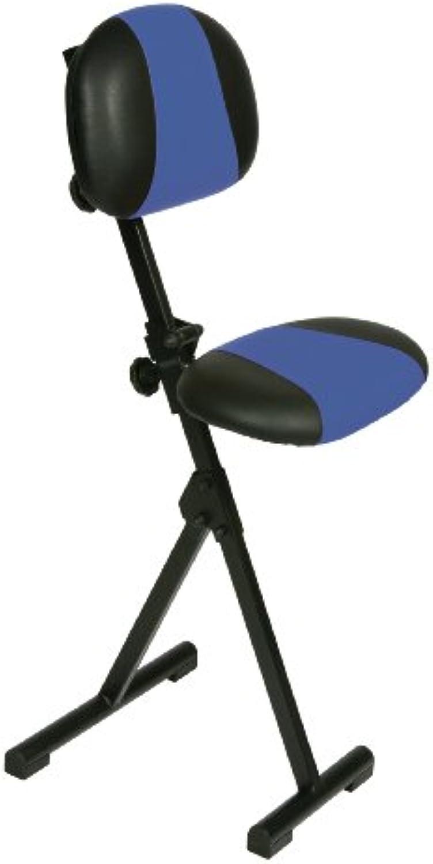 Me Stehhilfe, Zusmmenklappbar, Sitz und Rücken Kunstleder blau schwarz