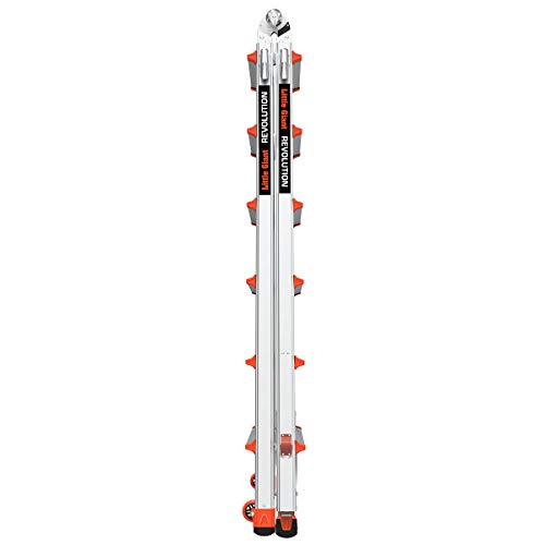 Little Giant Ladders, Revolution with Ratchet Levelers, M26, 8-22 Foot, Multi-Position Ladder, Aluminum, Type 1A, 300 lbs Weight Rating (12026-801)