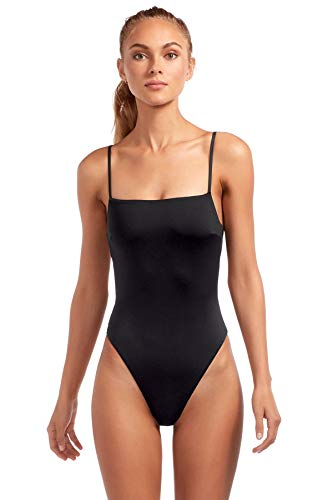 Vitamin A Women's Edie Lingerie Strap One Piece Swimsuit (Full Cut) Black 8