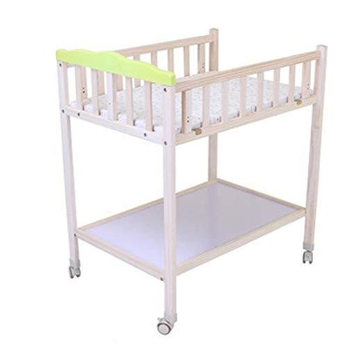 Baby Wickeltisch Kommode aus Holz, Wickeltisch for Babys - Ausstattung Handtuchhalter - 82x60x95cm