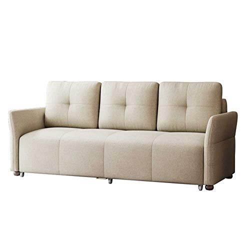 Convertible Sofa Couch Sleeper Futon Sofabed - Loveseat with Wheels and Hidden Storage Space - Modern Couch Sofa for Living Room