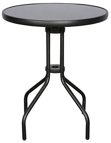 PKline balkontafel as Ø 60 cm tuintafel terras tuintafel bijzettafel zwart