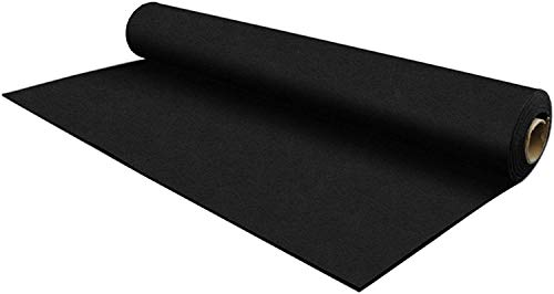IncStores 8mm Strong Rubber Gym Flooring Rolls Non-Slip Equipment & Protective Mats (Black - Quick Ship, 1 Roll (4 ft x 15 ft))