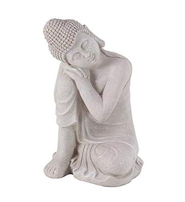 "Deco 79 36744 Resting Buddha Sculpture, 13"" W X 20"" H, Gray"