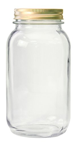 Anchor Hocking AHG17 1 Quart Home Canning Jar with Metal lids and Rings, ( Pack of 12 ) Clear
