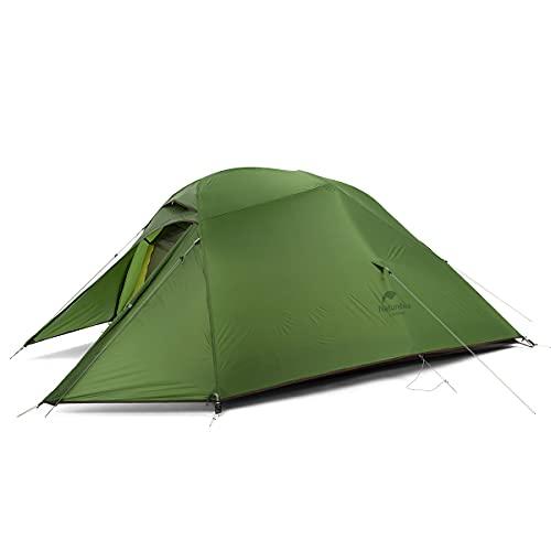 Naturehike Cloud-Up 3 Ultraleichtes Zelt 3-Personen-Rucksackzelt zum Wandern Camping im Freien (20D Waldgrün)