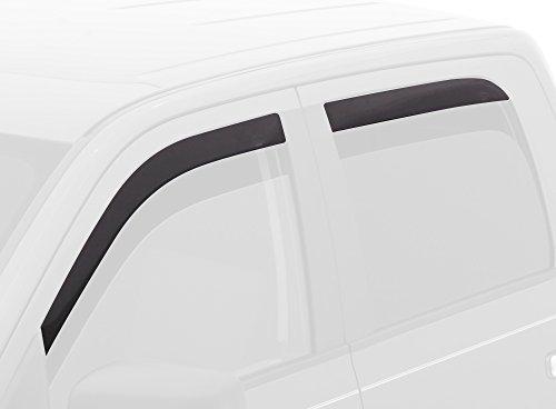 Auto Ventshade 894033 Low Profile Dark Smoke Ventvisor Side Window Deflector, 4-Piece Set for 2014-2018 Silverado & Sierra 1500, 2015-2019 Silverado & Sierra 2500HD-3500HD with Crew Cab