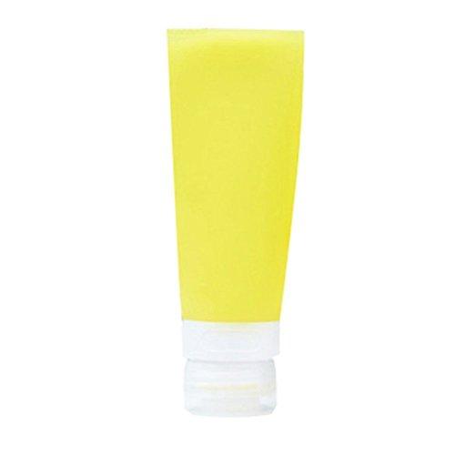 Livecity, leere Silikon-Reisetube, ideal zum Einfüllen von Shampoo / Lotion / Kosmetik, MWSUKSU278, gelb, 60ML