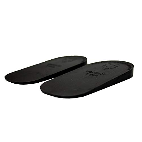Dr. Wolf Heel Lift Inserts for Shoes - Men's 9mm - Rubber Correction Wedge - for Leg Length Discrepancy or Height Increase - Helps Relieve Hip, Knee, & Back Pain from Uneven Legs - 2 Pack